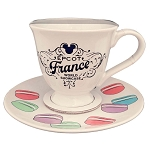 Disney Teacup and Saucer Set - Epcot France Mickey Macarons