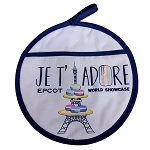 Disney Pot Holder - Epcot France Mickey Macaron