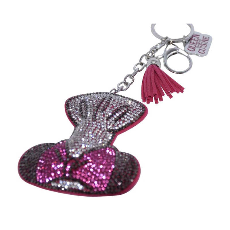 Disney Keychain Keyring - Epcot Food & Wine Festival - Chef Minnie Mouse - Bling