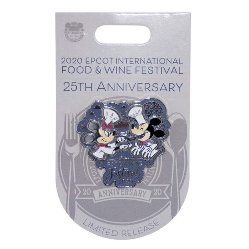 Disney Food and Wine Festival Pin - 2020 Mickey and Minnie Mouse - 25th Anniversary
