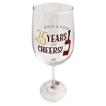 Disney Wine Glass - Food and Wine 2020 - 25 Years of Cheers