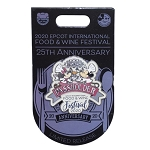 Disney Food and Wine Festival Pin - 2020 Mickey and Minnie Mouse - 25th Anniversary - Passholder