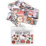 Universal Loungefly Lanyard & Pin Set - Hello Kitty - Pumpkin Spice