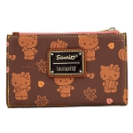 Universal Loungefly Wallet - Sanrio Hello Kitty - Pumpkin Spice AOP Flap Wallet