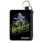 Universal Studios Canvas Zipper Wallet - Mini 3 x 4 X-Small - Beetlejuice