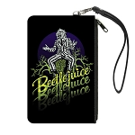 Universal Studios Canvas Zipper Wallet - 3 x 6 Small - Beetlejuice