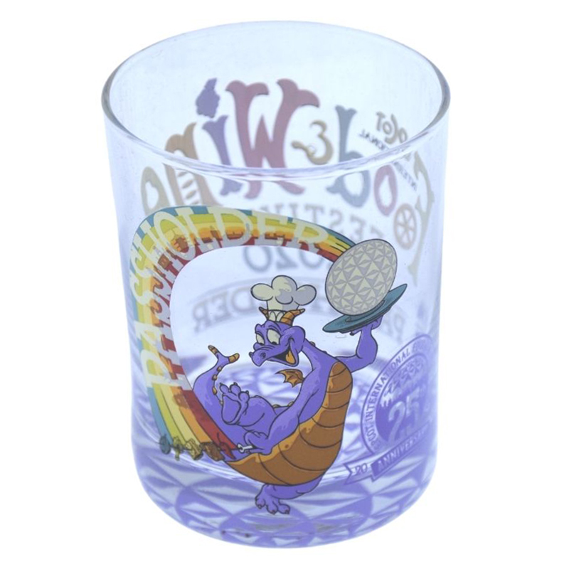 Disney Rocks Glass - EPCOT Food and Wine Festival - 25th Anniversary - Passholder - Chef Figment