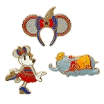 Disney 3 Pin Set - Minnie Mouse The Main Attraction - Dumbo