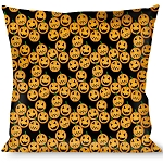 Designer Decorative Throw Pillow - Happy Halloween - Jack O' Lanterns Collage