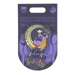 Disney Food and Wine Festival Pin - 2020 Figment - 25th Anniversary - Passholder - Limited Edition