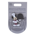 Disney Food and Wine Festival Pin - 2020 Chef Mickey- 25th Anniversary - Limited Edition