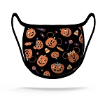 Disney Face Mask - Halloween - Mickey and Minnie Pumpkins - Black