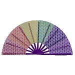Disney Hand Fan - Japanese Style Personal Fan - Mickey Icon - Rainbow