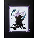 Disney Print - Lauren Tamaki - Ursula with Flotsam and Jetsam