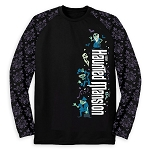 Disney Adult Shirt - Long Sleeve Raglan Tee - The Haunted Mansion Logo