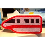 Disney Kitchen Sponge - Red Monorail
