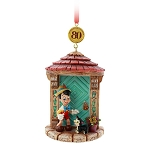 Disney Ornament - Legacy Sketchbook - 80th Anniversary Pinocchio