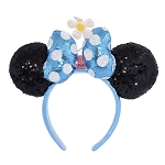 Disney Minnie Ears Headband - Blue & White Polka Dots - 2nd Ed.