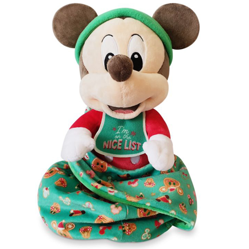 Disney Baby in a Blanket Plush - Holiday Babies Collection - Mickey Mouse