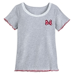 Disney Women's Shirt - Lace Scoop Neck - Minnie Mouse