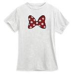 Disney Women's Shirt - Reversible Sequin - Minnie Mouse Bow