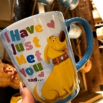 Disney Coffee Cup - UP - Dug - I Have Just Met You and I Love You