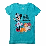 Disney Girls Shirt - Epcot UK Minnie Mouse and Welsh Corgi