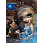 Disney Postcard - Jasmine Becket-Griffith Pinocchio and the Blue Fairy