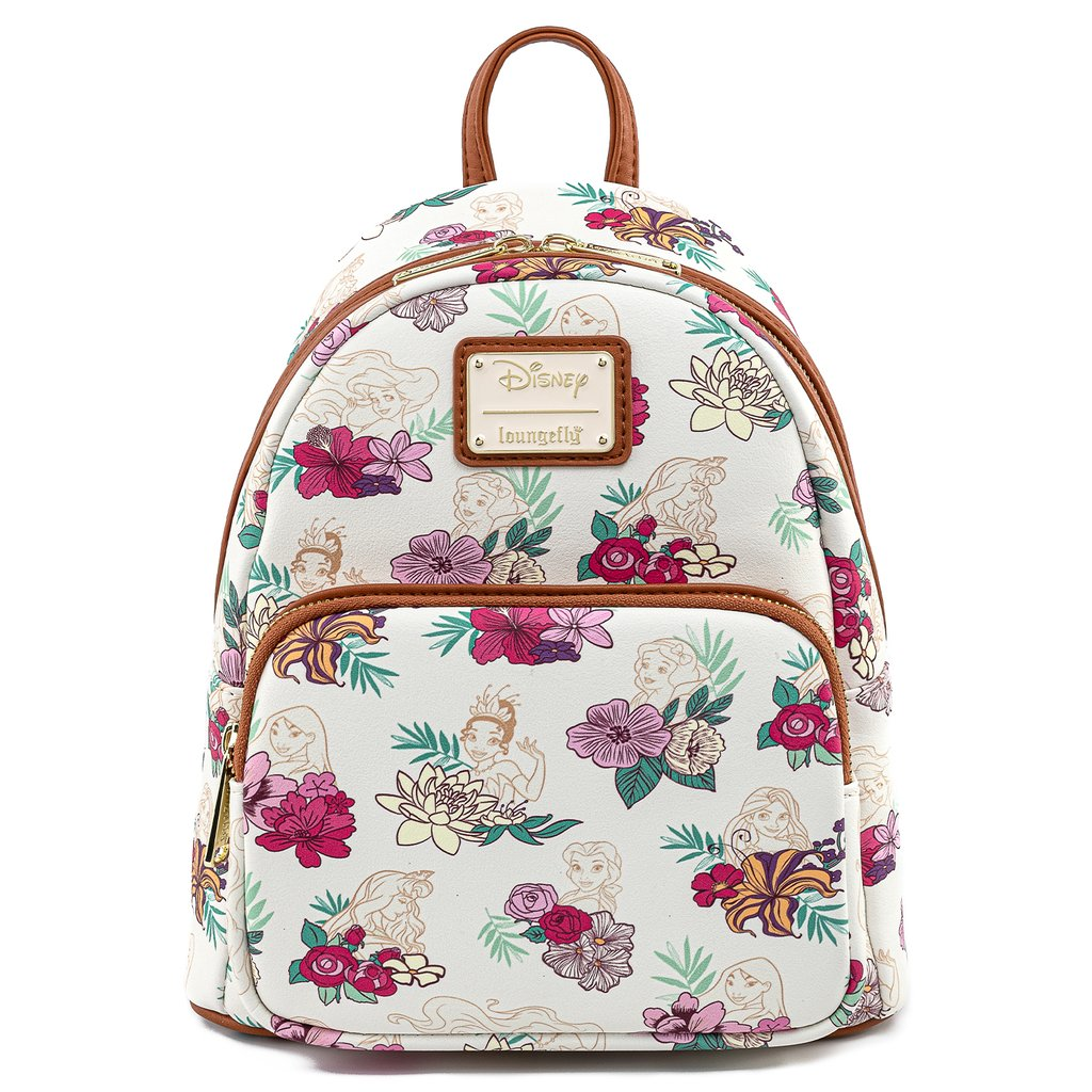 Disney Loungefly Mini Backpack - Princess Floral - Tropical Flowers AOP Mini Backpack