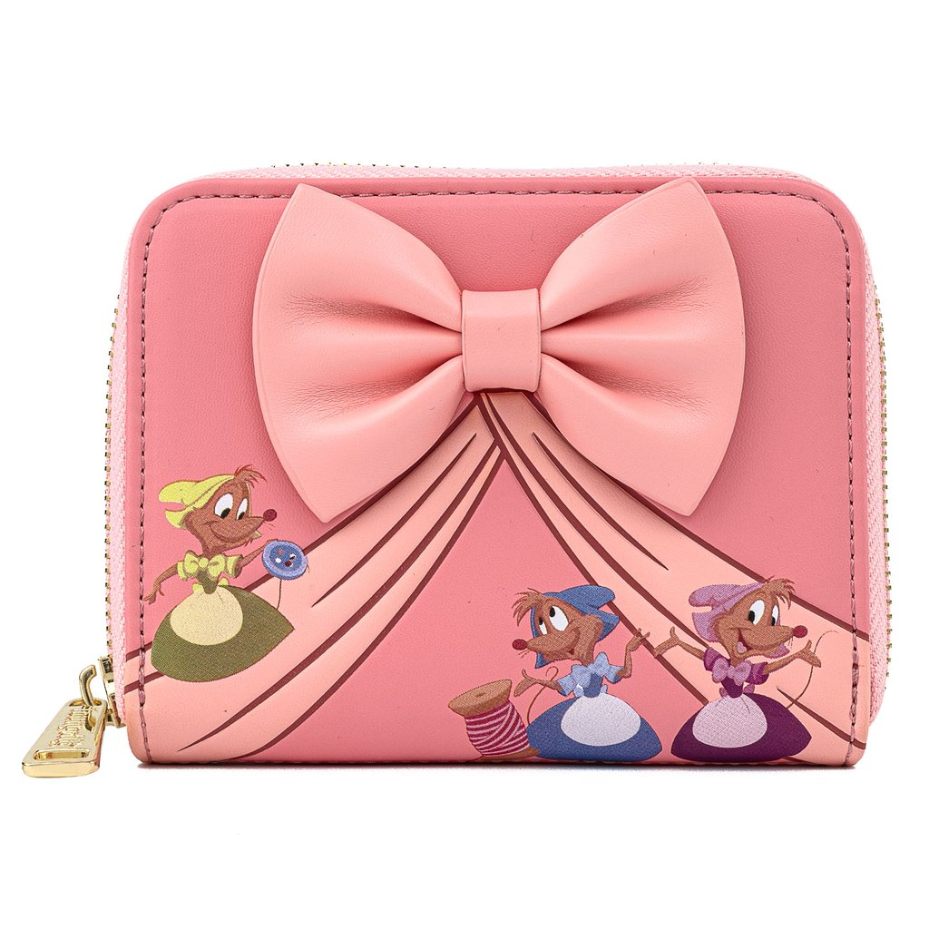 Disney Loungefly Wallet - Cinderella Bow Zip-Around Wallet
