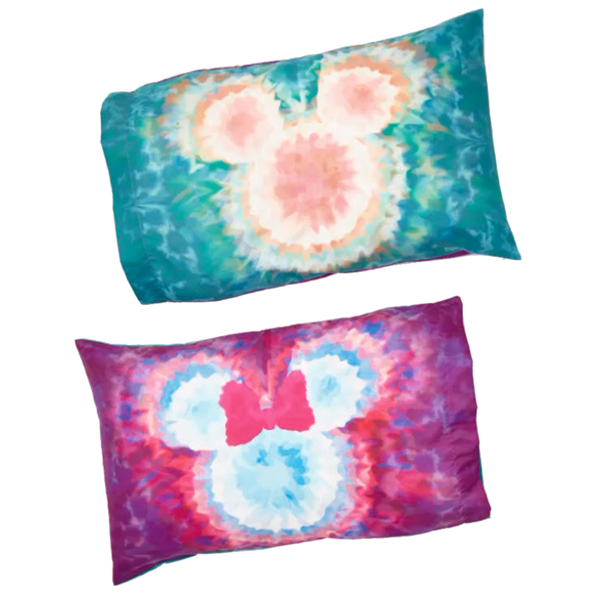 Disney Pillow Cases Set - Mickey and Minnie Mouse - Tie Dye