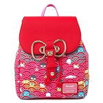Universal Loungefly Backpack - Sanrio 60th Anniversary Gold Bow AOP