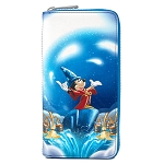 Disney Loungefly Wallet - Fantasia Sorcerer Mickey Mouse Scene Zip-Around Wallet