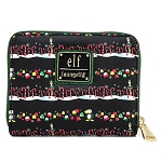 Elf Loungefly Wallet - Christmas Elf Candy Cane Forest Zip Around Wallet