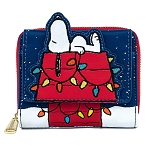 Peanuts Loungefly Wallet - Christmas Holiday Snoopy House Wallet