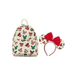 Disney Loungefly Backpack - Christmas Mickey and Minnie Cookie Mini Backpack