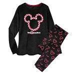 Disney Ladies Pajama Set - Holiday Mickey Peppermint Candy Cane