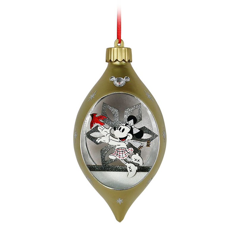 Disney Christmas Ornament - Light Up - Minnie Mouse - Glass Drop