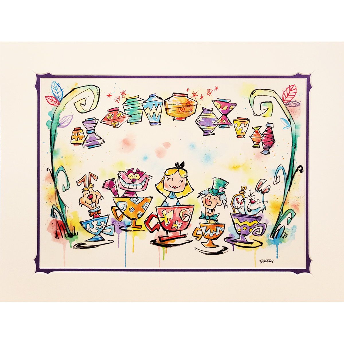 Disney Artist Print - David Buckley - Time for a Tea Party