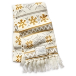Disney Knit scarf - Winter Magic - Gold and Silver Snowflakes