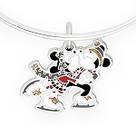 Disney Alex and Ani Bracelet - Ice Skating Mickey and Minnie