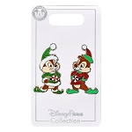 Disney Pin Set of 2 Pins - Chip 'n Dale Elf Helpers Holiday Pin Set