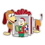 Disney Pin - Toy Story Slinky Dog and Tinny Tin Toy Holiday Pin
