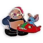 Disney Pin - Stitch & Jumba Holiday Pin