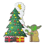 Disney Pin - Star Wars Yoda Holiday Pin