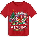 Disney TODDLER Shirt - Walt Disney World Mickey and Pals Holiday Tee