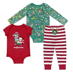 Disney Baby Bodysuit Set - Holiday Mickey and Pals