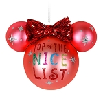 Disnmey Christmas Ornament - Ears Icon - Minnie Mouse - Nice