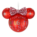Disnmey Christmas Ornament - Ears Icon - Minnie Mouse - Naughty