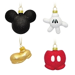 Disney Ornament Set - Mickey Mouse Icon Glass Ornament Set